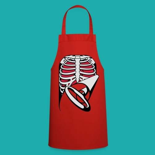 Skeleton Key, bones, chest t-shirt, ribs - Cooking Apron