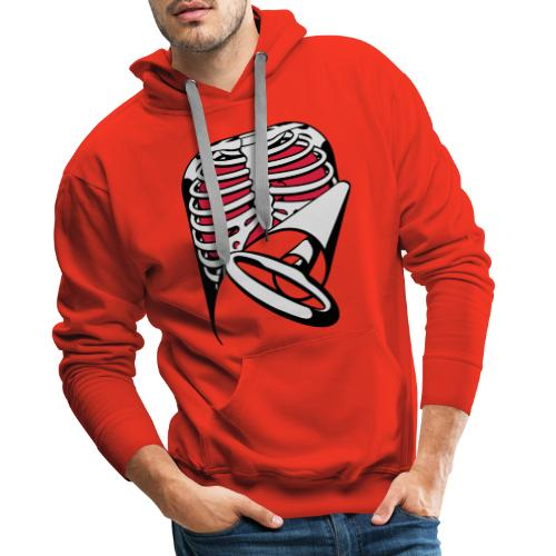 Skeleton Key, bones, chest t-shirt, ribs - Men's Premium Hoodie