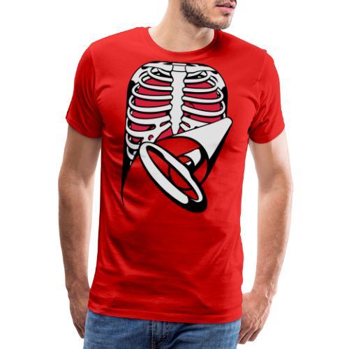Skeleton Key, bones, chest t-shirt, ribs - Men's Premium T-Shirt