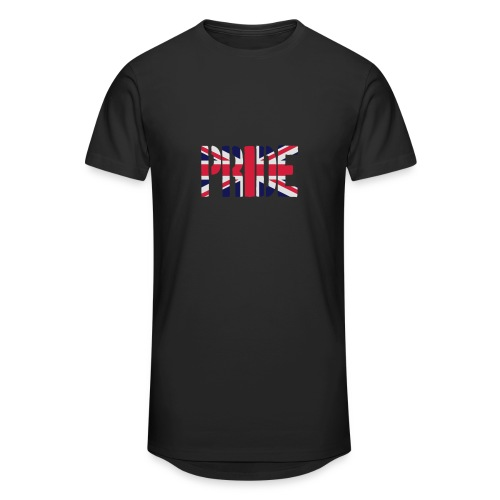 PRIDE Britain Flag, British Flag, Union Jack, UK Flag - Men's Long Body Urban Tee