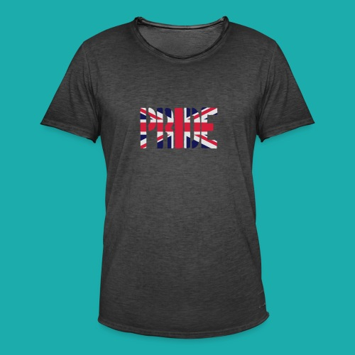 PRIDE Britain Flag, British Flag, Union Jack, UK Flag - Men's Vintage T-Shirt