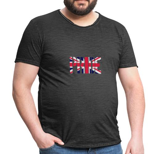 PRIDE Britain Flag, British Flag, Union Jack, UK Flag - Men's Vintage T-Shirt