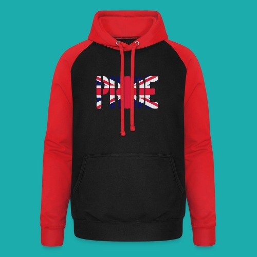 PRIDE Britain Flag, British Flag, Union Jack, UK Flag - Unisex Baseball Hoodie
