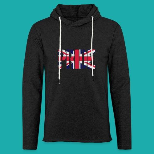 PRIDE Britain Flag, British Flag, Union Jack, UK Flag - Light Unisex Sweatshirt Hoodie