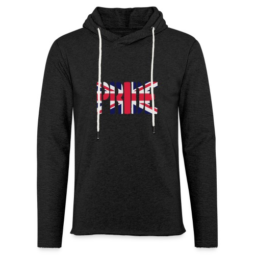 PRIDE Britain Flag, British Flag, Union Jack, UK Flag - Light Unisex Sweatshirt Hoodie