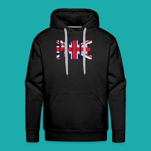 PRIDE Britain Flag, British Flag, Union Jack, UK Flag - Men's Premium Hoodie