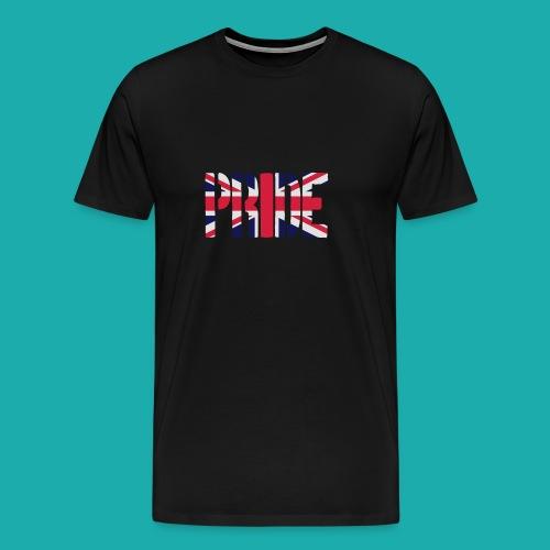 PRIDE Britain Flag, British Flag, Union Jack, UK Flag - Men's Premium T-Shirt