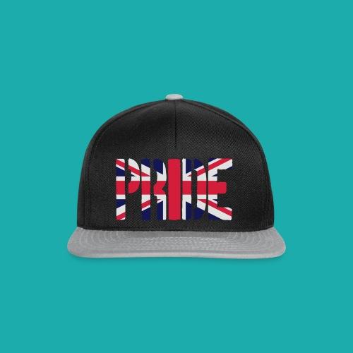 PRIDE Britain Flag, British Flag, Union Jack, UK Flag - Snapback Cap