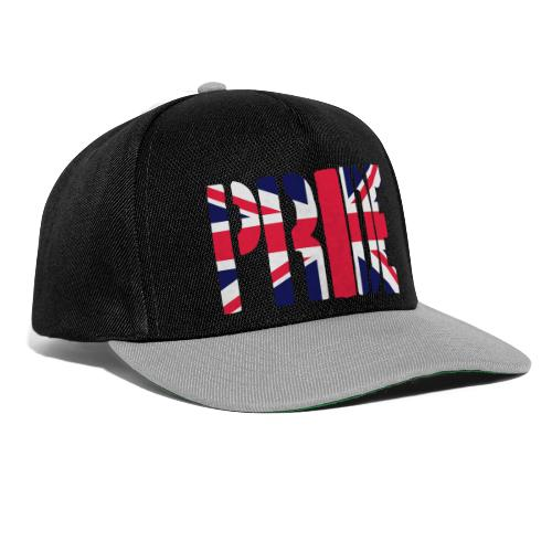 PRIDE Britain Flag, British Flag, Union Jack, UK Flag - Snapback Cap