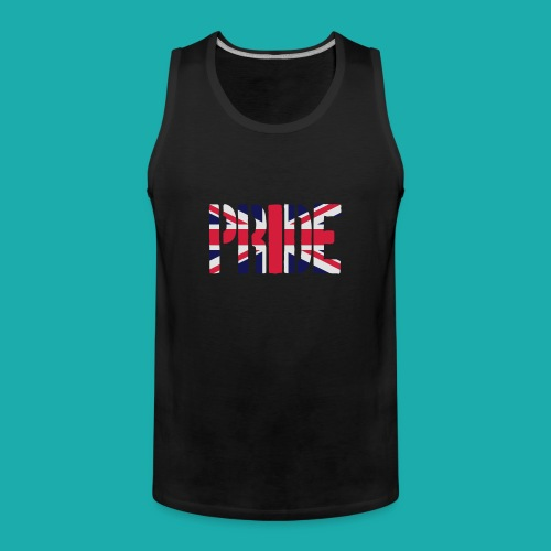 PRIDE Britain Flag, British Flag, Union Jack, UK Flag - Men's Premium Tank Top