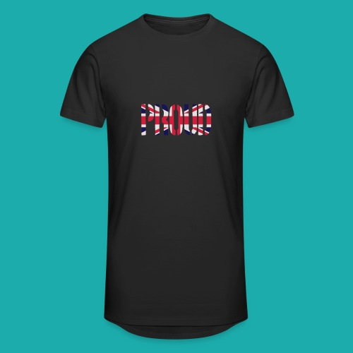 PROUD Britain Flag, British Flag, Union Jack, UK Flag - Men's Long Body Urban Tee