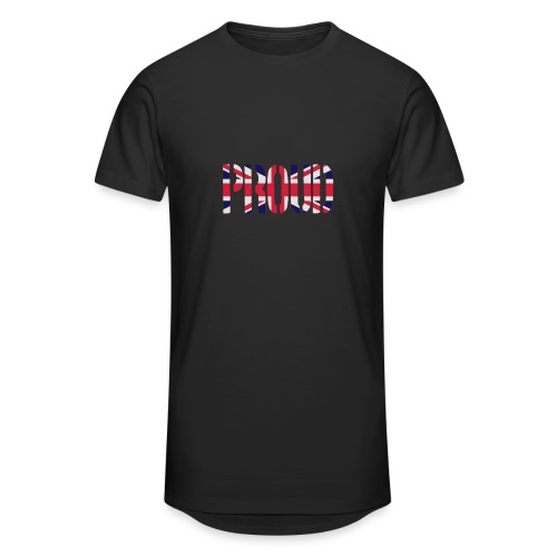 PROUD Britain Flag, British Flag, Union Jack, UK Flag - Men's Long Body Urban Tee