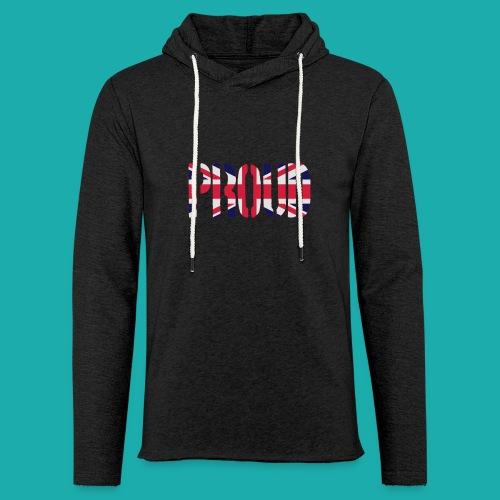 PROUD Britain Flag, British Flag, Union Jack, UK Flag - Light Unisex Sweatshirt Hoodie