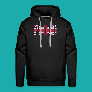 PROUD Britain Flag, British Flag, Union Jack, UK Flag - Men's Premium Hoodie