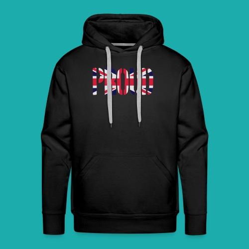 PROUD Britain Flag, British Flag, Union Jack, UK Flag - Men's Premium Hoodie