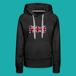 PROUD Britain Flag, British Flag, Union Jack, UK Flag - Women's Premium Hoodie