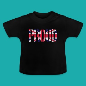 PROUD Britain Flag, British Flag, Union Jack, UK Flag - Baby T-Shirt