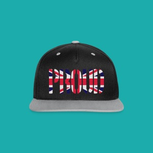 PROUD Britain Flag, British Flag, Union Jack, UK Flag - Contrast Snapback Cap