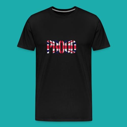 PROUD Britain Flag, British Flag, Union Jack, UK Flag - Men's Premium T-Shirt
