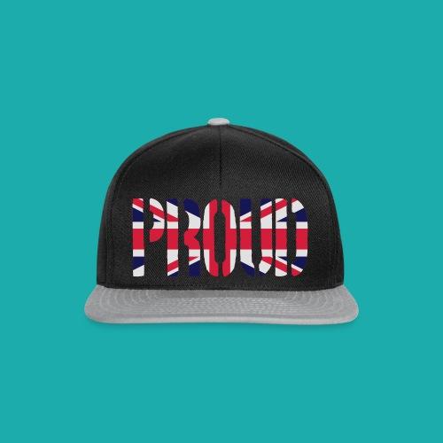 PROUD Britain Flag, British Flag, Union Jack, UK Flag - Snapback Cap
