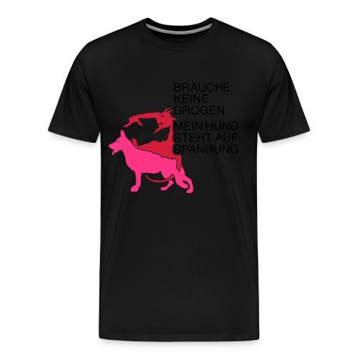 Drogen Hund - Männer Premium T-Shirt