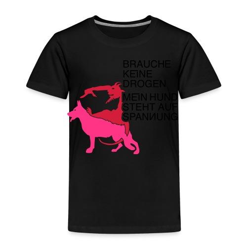 Drogen Hund - Kinder Premium T-Shirt