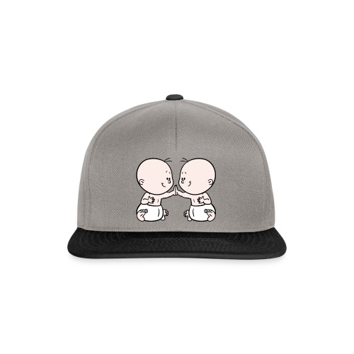 Rompertje met tweeling babies - Snapback cap