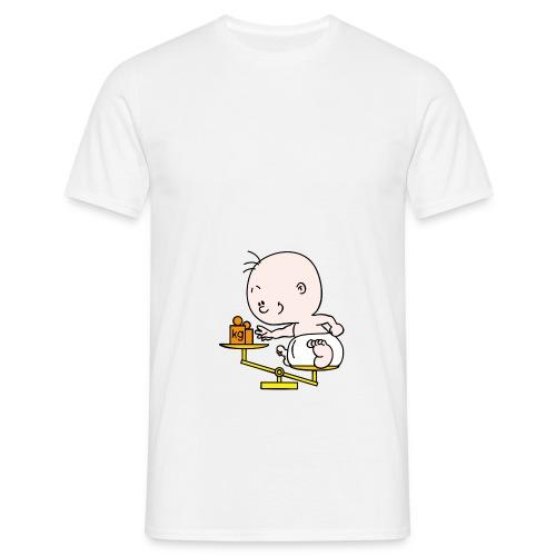 Baby T-shirt weegschaal - Mannen T-shirt