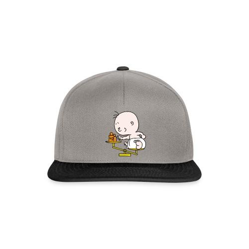 Baby T-shirt weegschaal - Snapback cap