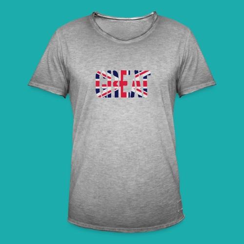 Great Britain Flag, British Flag, Union Jack, UK Flag - Men's Vintage T-Shirt