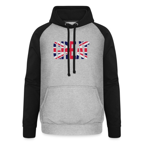 Great Britain Flag, British Flag, Union Jack, UK Flag - Unisex Baseball Hoodie