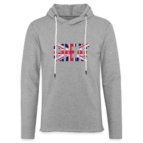 Great Britain Flag, British Flag, Union Jack, UK Flag - Light Unisex Sweatshirt Hoodie