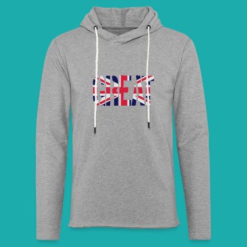 Great Britain Flag, British Flag, Union Jack, UK Flag - Light Unisex Sweatshirt Hoodie