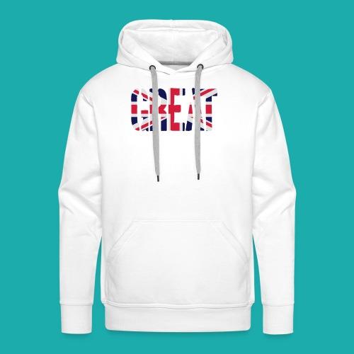 Great Britain Flag, British Flag, Union Jack, UK Flag - Men's Premium Hoodie