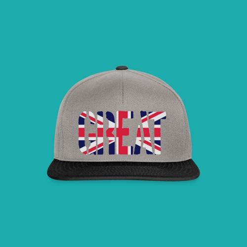 Great Britain Flag, British Flag, Union Jack, UK Flag - Snapback Cap