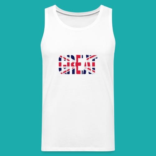 Great Britain Flag, British Flag, Union Jack, UK Flag - Men's Premium Tank Top