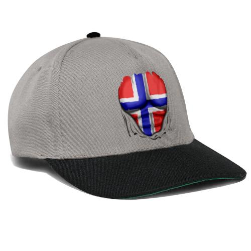 Norway Flag Ripped Muscles six pack chest apron - Snapback Cap