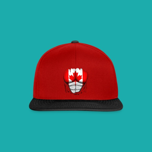 Canada Flag Ripped Muscles, six pack, chest t-shirt - Snapback Cap