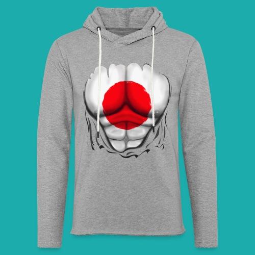 Japan Flag Ripped Muscles, six pack, chest t-shirt - Light Unisex Sweatshirt Hoodie