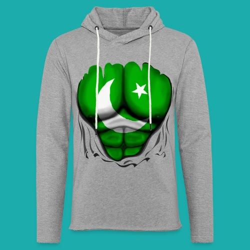 Pakistan Flag Ripped Muscles, six pack, chest t-shirt - Light Unisex Sweatshirt Hoodie