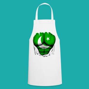 Pakistan Flag Ripped Muscles, six pack, chest t-shirt - Cooking Apron