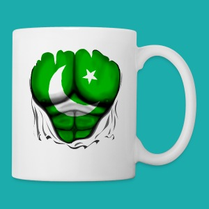 Pakistan Flag Ripped Muscles, six pack, chest t-shirt - Mug