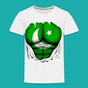Pakistan Flag Ripped Muscles, six pack, chest t-shirt - Kids' Premium T-Shirt