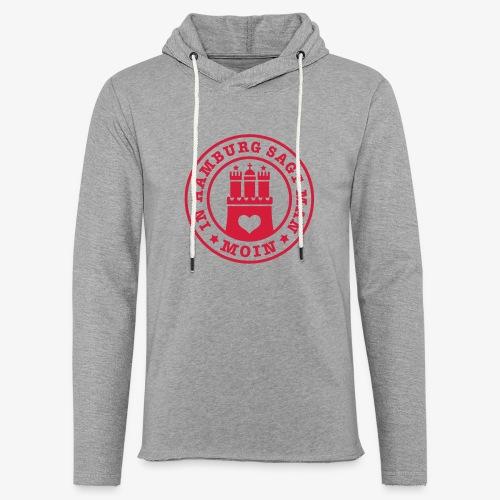 In HAMBURG sagt man MOIN / Wappen Button Anstecker - Leichtes Kapuzensweatshirt Unisex