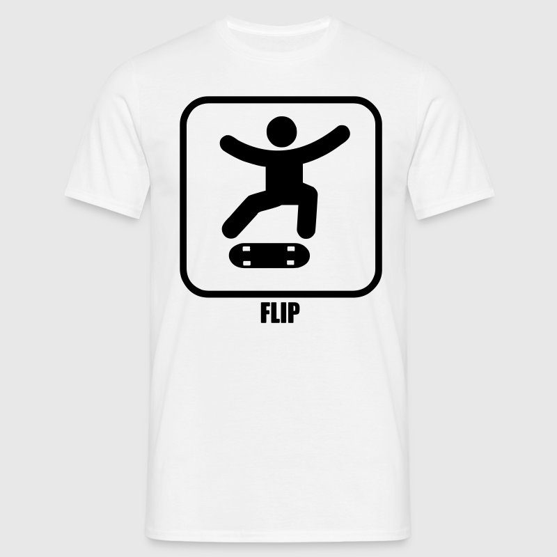 skateboard sign flip T-Shirts - Men's T-Shirt