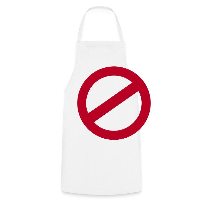 Tablier panneau d 39 interdiction spreadshirt - Panneau cuisine ...
