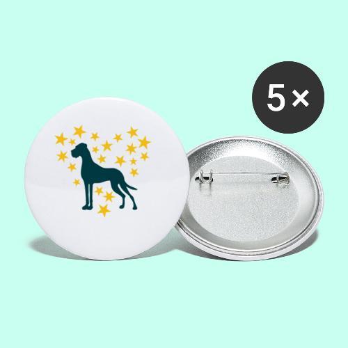 Doggen Tasse - Danes Mug - Buttons klein 25 mm (5er Pack)