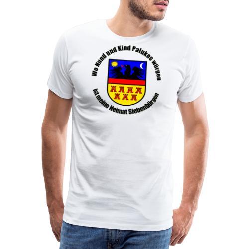 Schürze 'Wo Hund und Kind Palukes würgen...' - Männer Premium T-Shirt