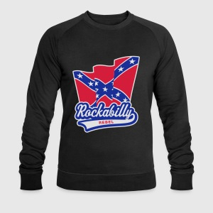 Rockabilly Rebel Flag, T-Shirt - Men's Sweatshirt by Stanley & Stella