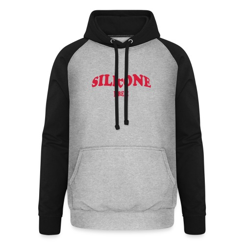 Silicone Free - Rood - Unisex baseball hoodie